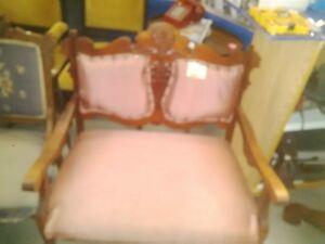 vintage edwardian love seat sofa