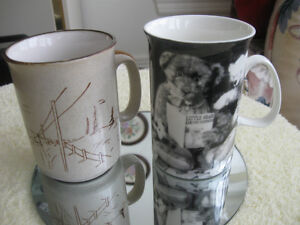 TWO OLD VINTAGE LIKE-NEW COFFEE MUGS