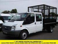 2008 FORD TRANSIT 350/100 DOUBLE CREW CAB TIPPER STEEL BODY WITH CAGE *** 1 OWNE