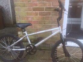 Plain silver BMX BIKE