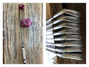 Ensemble de fers Callaway Apex forged, putter TaylorMade Spider