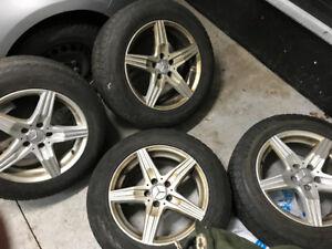 Mercedes mags 17 pouces et pneus hiver Rim wheels 17 inch
