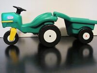 VINTAGE LITTLE TIKES DOLLHOUSE TRACTOR & CART