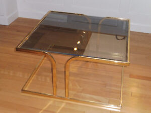 Tinted Bevelled Glass Coffee Table