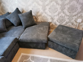 Brand ew sofa and foot stool (delivered today)