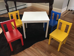 For Sale: Children's IKEA table and chairs