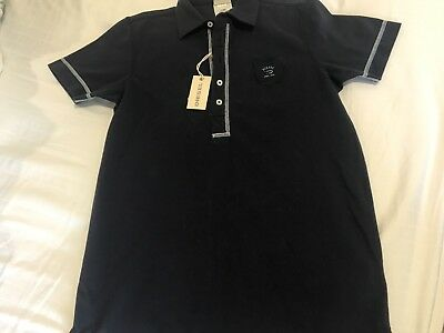 DIESEL polo shirt top boys kids sz XL dark blue 95% cotton perfect 10-14 years