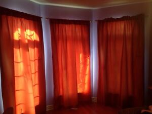 3 draps / window panels / window treatment