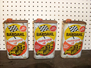 antique motorcycle oil cans