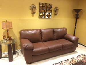 Brown Bonded Leather Sofas