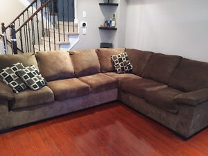 Comfort Style Microfiber Sectional Couch (Made in Canada)