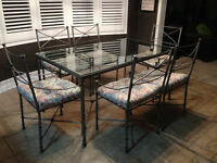 Beautiful pier one dining table /chairs / liquor table