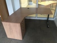 Gesika executive corner desks with matching drawers pedestals. Delivery.