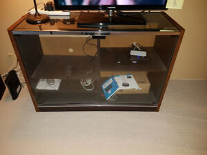Glass, Chrome & Wood Entertainment Centre