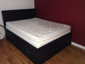 Ikea Queen Sultan Hultsvik matress and Fjell frame - Used