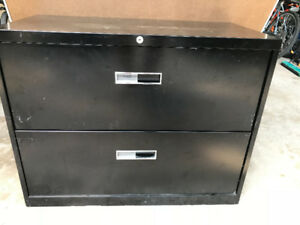 Filing Aficionados!! New Black 2 Drawer Lateral Filing Cabinet!!