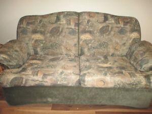Divan lit et fauteuil inclinable