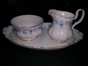 Royal Albert Cream & Sugar Dishes China Vintage Mint