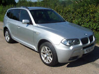 2006 56 Plate BMW X3 2.0d M Sport Finished In Bright Silver With Full Leather !!