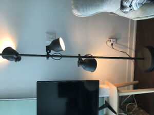 IKEA Hektar floor lamp grey with 3 spotlights