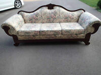 Antique sofa couch cherry wood victorian
