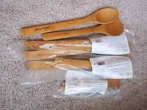 Pampered Chef bamboo spoons