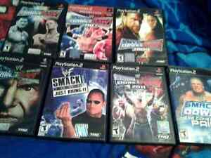 Lot of 7 WWE PlayStation 2 Games