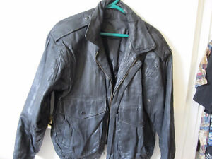libra black mens leather jacket  size small