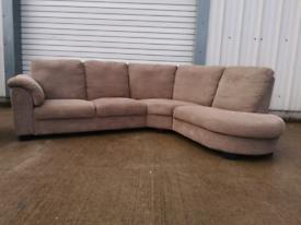 Brown fabric Corner sofa & 2 seater Armchair 🚚🚚