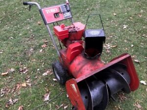 """Snowblower TORO-2 stage-5hp-26"""" cut-All tuned up-Ready for snow."""