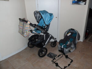 2 in1 Uppababy Vista stroller with car seat-adapter-....