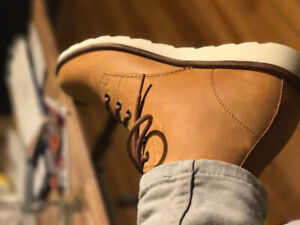 Vans Leather Boot - Beige (buy 1 get 2 free) $35 for 3 pairs