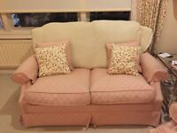 JOHN LEWIS 2 seater fabric sofa with duck down cushions and back
