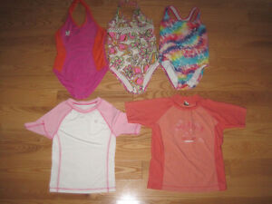 Girls Bathing Suits and Swim Tops/Shirts- size 6x/7