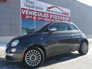 Fiat 500 2dr HB Lounge+toit+cuir+mags 2015
