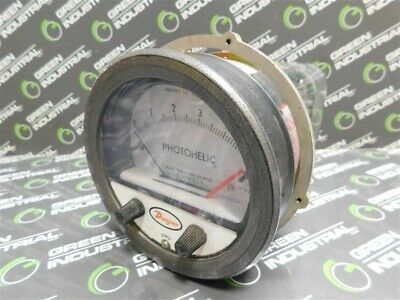 New Dwyer 3305 Photohelic Pressure Gauge Circuit Hh 25psig Max.