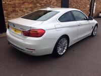 2014 BMW 4 Series 2.0 420d Luxury 2dr Diesel white Automatic