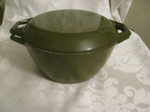 Mid Century Retro Copco Denmark Cast Iron Covered Casserole