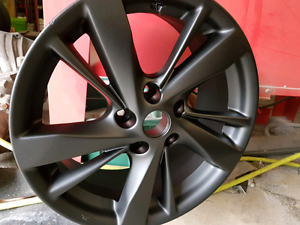 17' Powder coated flatter black rims