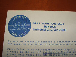 Vintage Official Star Wars Fan Club Newsletters & Letter Stratford Kitchener Area image 8