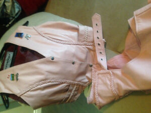 Leather Chaps PINK w/matching Vest