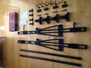 Rack toit Thule 400 + rack vélo Thule 566 + Fit kit 2060 saturn