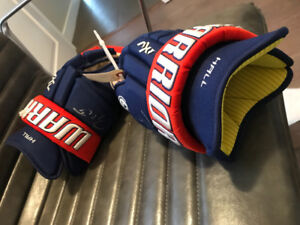 Edmonton Oilers Taylor Hall Game Used Gloves