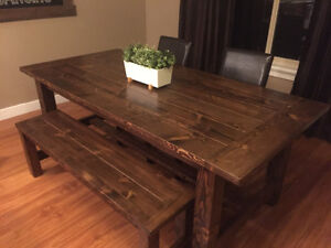 New rustic farmhouse dining table