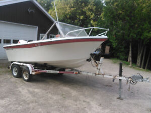 17'  Wilker Galaxy with 175hp Johnson Outboard