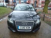 Audi A3 1.6TDI 2010MY Sport 1.6 DIESEL ENGINE ARE REAR ENGINES VERY ECO FREE