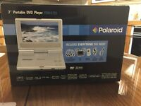 "Polaroid 7"" portable DVD player"