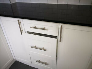 White Shaker & High Gloss Budget Kitchen Cabinets