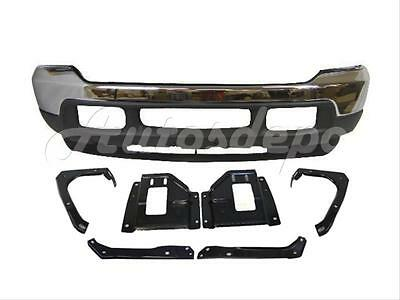 For 2001 Super Duty Front Bumper Chr Up Lower Valance Support/Plate Bracket 9Pcs