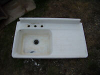 Assorted Stainless Steel and Cast Iron Sinks